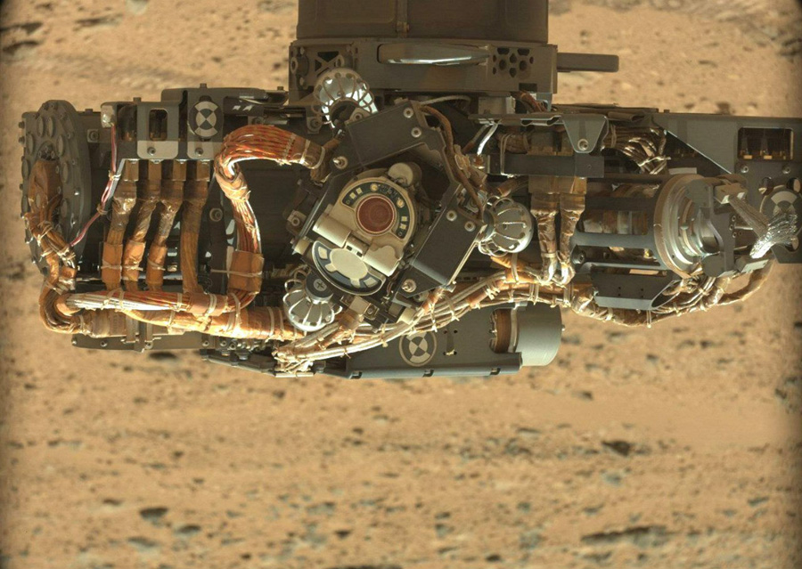 Curiosity манипулятор и камера MAHLI