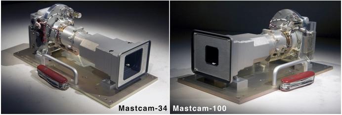 Curiosity камеры MastCam Left и MastCam Right
