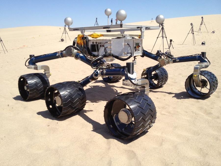 Curiosity тесты марсохода в пустыне