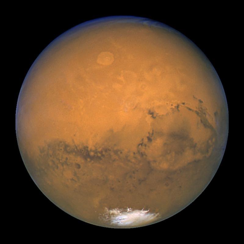 Синее небо Марса