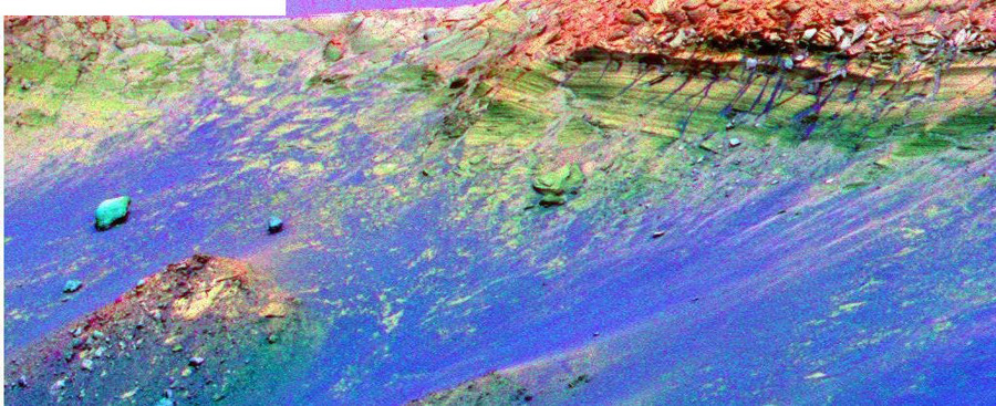 Ложный цвет Марса