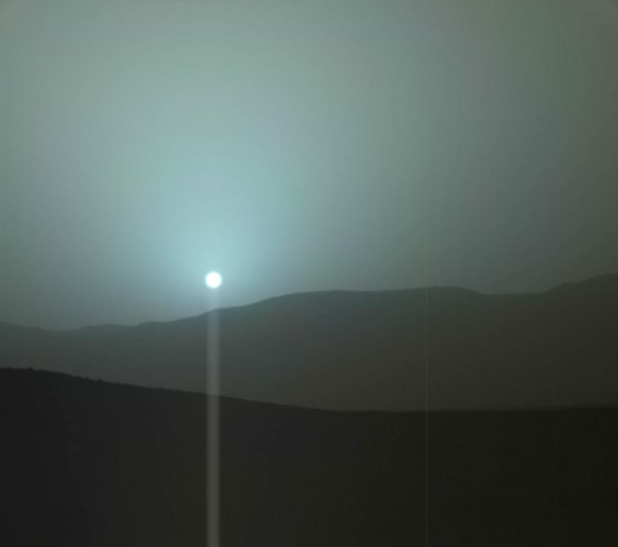 Голубое небо Марса