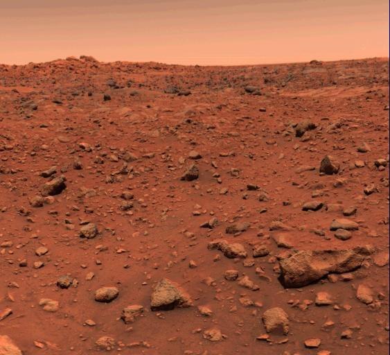 Цветные кадры Марса от Viking