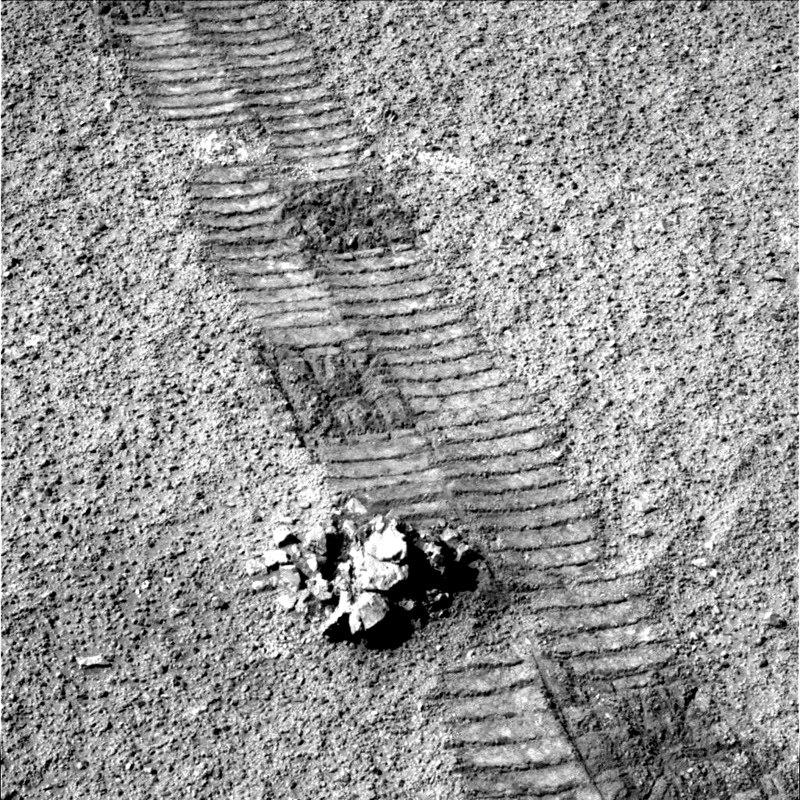 Opportunity следы марсохода