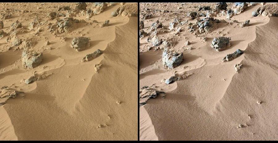 Исследования марсохода в Rocknest