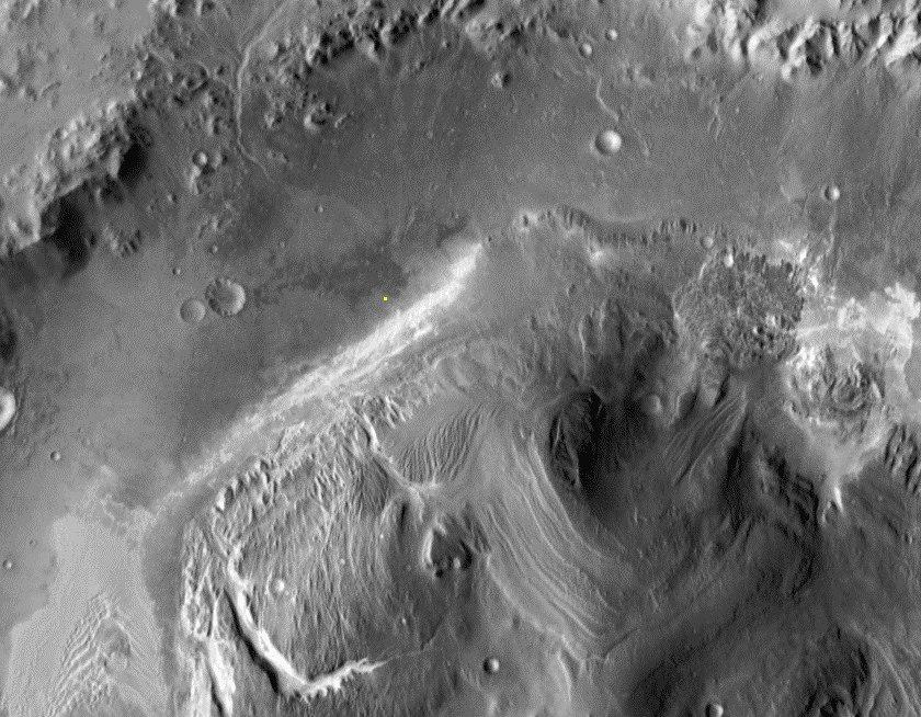 gale crater кратер Гейла инфракрасный снимок
