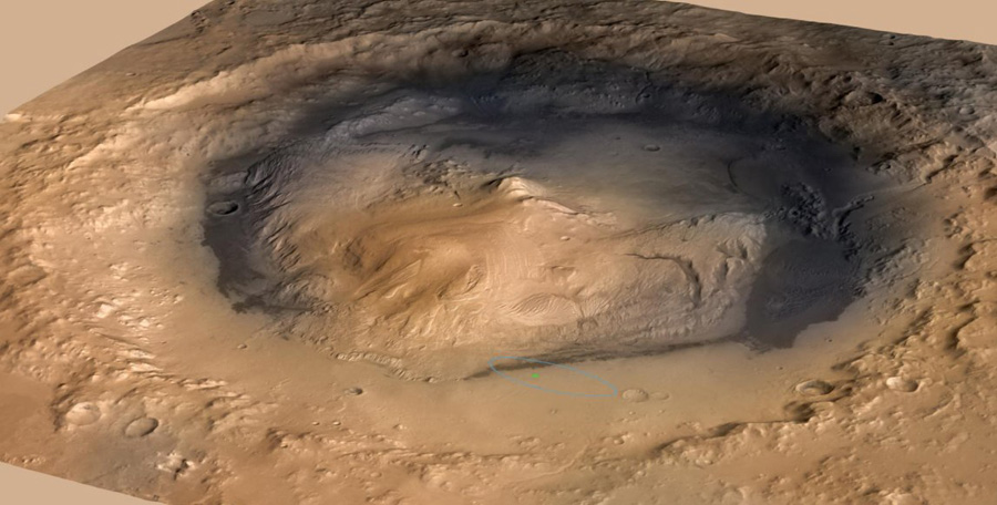 gale crater кратер Гейла