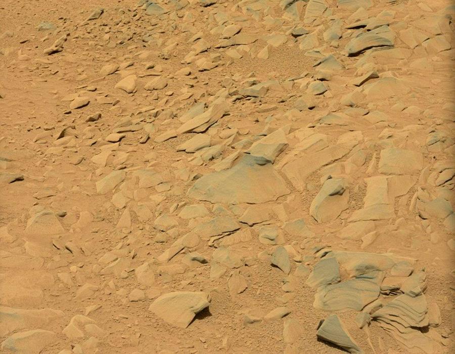 Марс от марсохода Curiosity