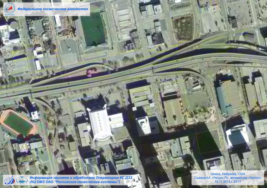 Цветной снимок со спутника Ресурс-П