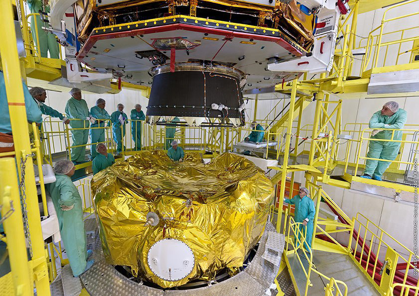 Fregat upper stage with Gaia telescope