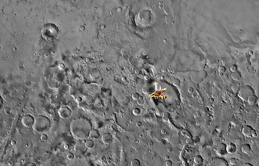 Место посадки Spirit на Марсе