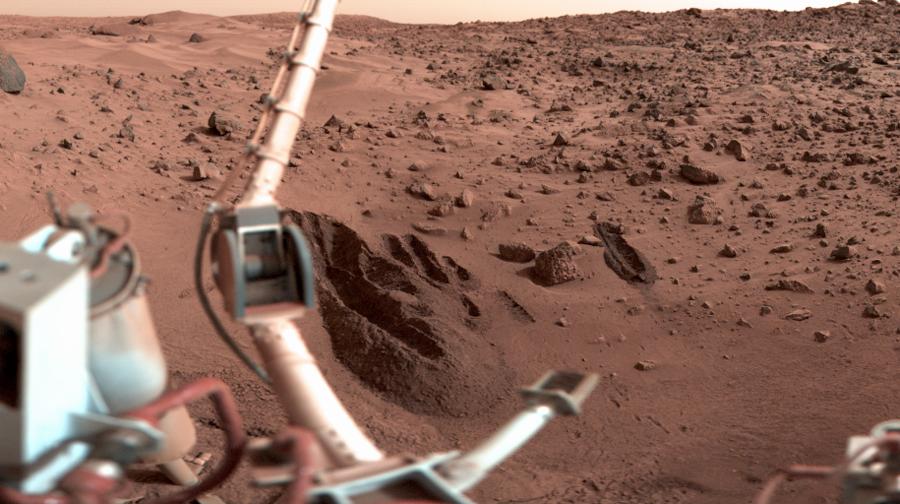 Первое цветное фото Марса. Викинг,