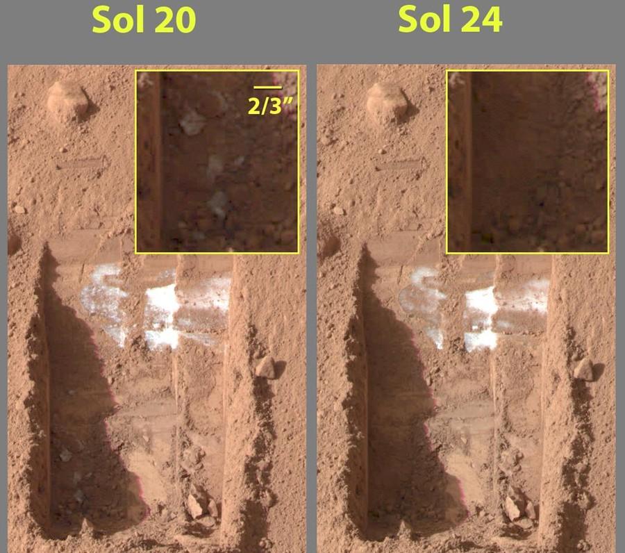 Как нашли лед на Марсе