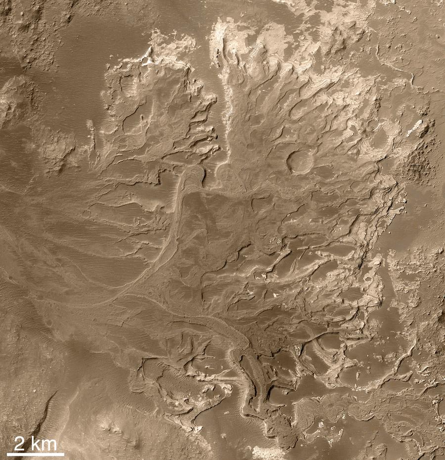 Озерные отложения на Марсе