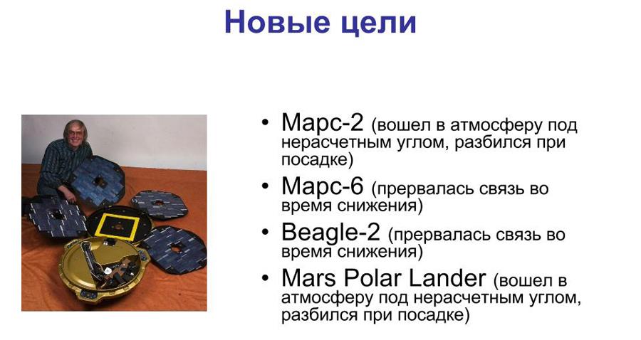 На снимке слева - Beagle-2.