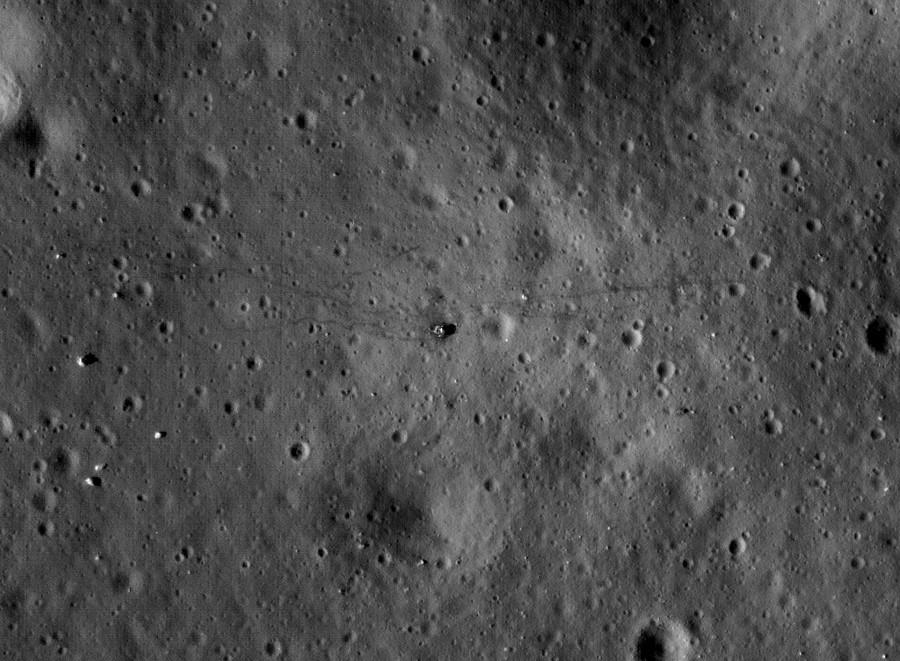 с телескопа Hubble увидеть Apollo 17