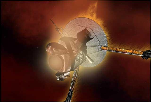 спуск зонда Galileo в атмосферу Юпитера