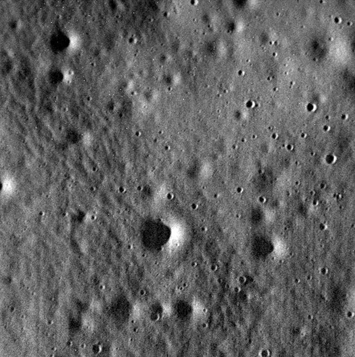 снимок Меркурия аппаратом Messenger с расстояния 40 км