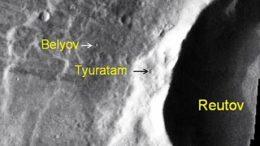 кратеры у места посадки «Марса-3»