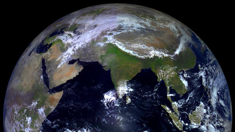 снимок Земли со спутника Электро-Л