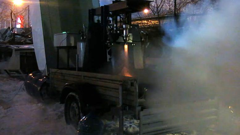 огневые испытания Лин первого жидкостного ракетного двигателя
