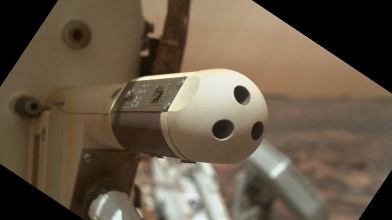 датчик ветра на марсоходе Curiosity