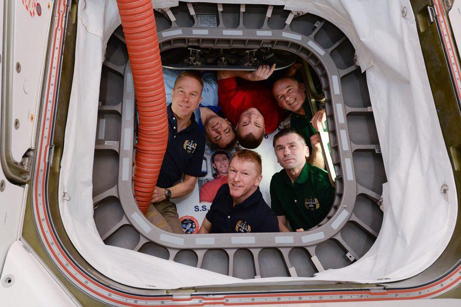 экипаж экспедиции «МКС-47» - участников эксперимента «Взаимодействие-2»