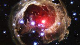 Звезда V838 Единорога и световое эхо, снимок телескопа Хаббл