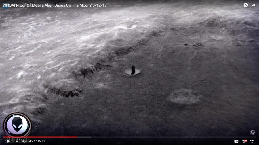 "кадр видео ""WHOA! Proof Of Mobile Alien Bases On The Moon? 3/12/17"""