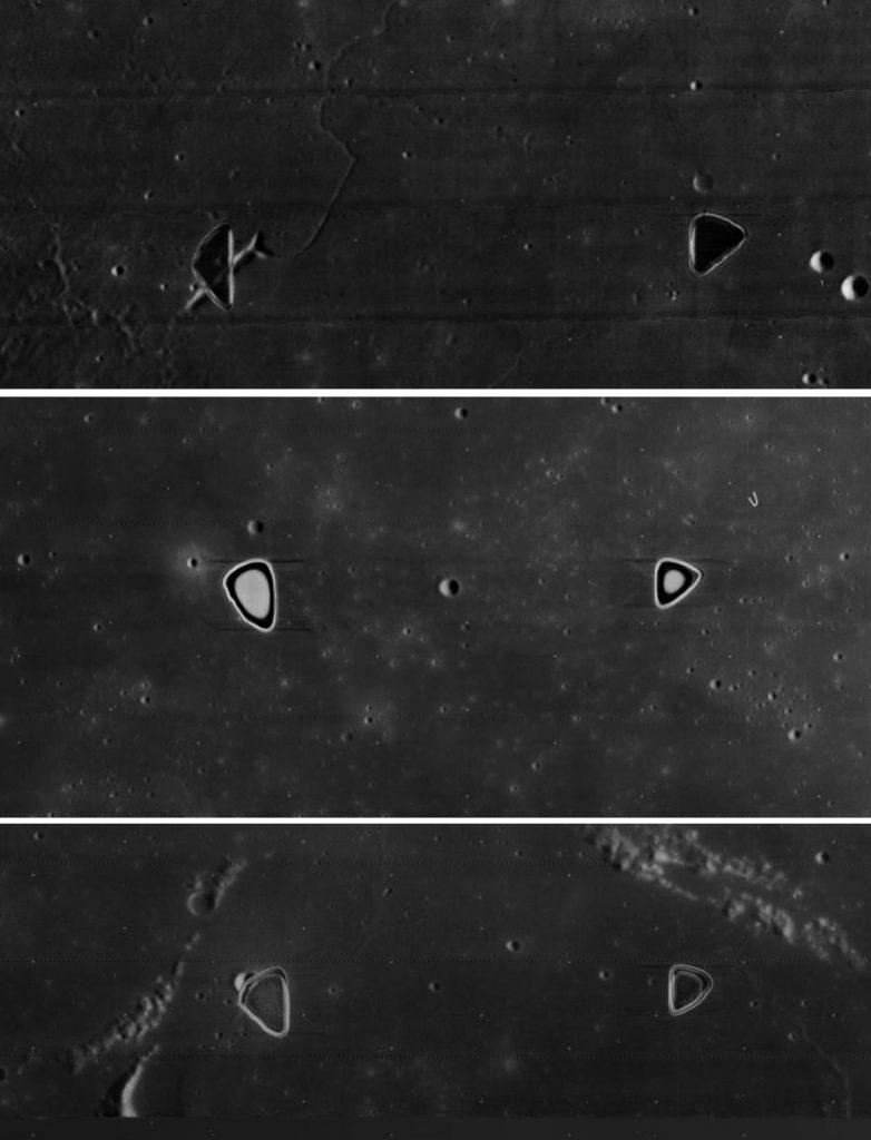 снимки поверхности Луны с КА Lunar Orbiter 4