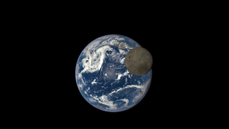 вид на Землю с Луны, снимок аппарата NASA