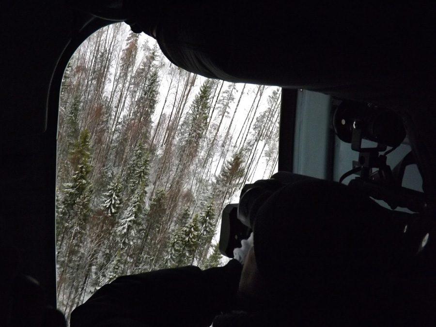 """съемка места посадки """"Восход-2"""" с вертолета"""