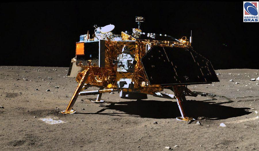 Китайская станция Change 3 на Луне фото китайского лунохода Yutu