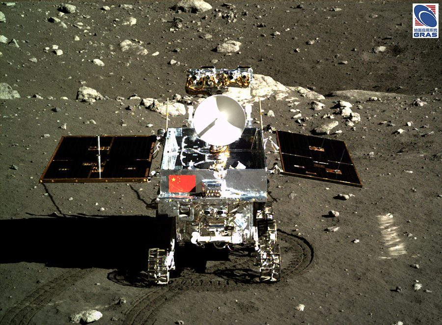 Китайский луноход Yutu на Луне