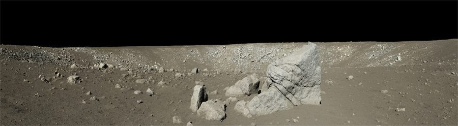 Панорама Луны с китайского лунохода Yutu