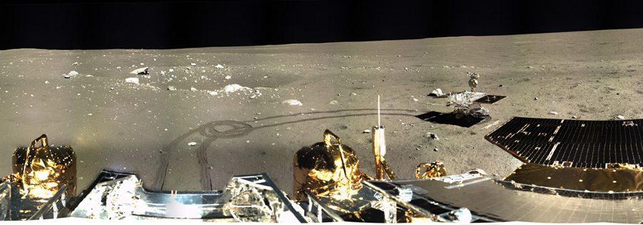 Панорама Луны с китайской станции Change 3