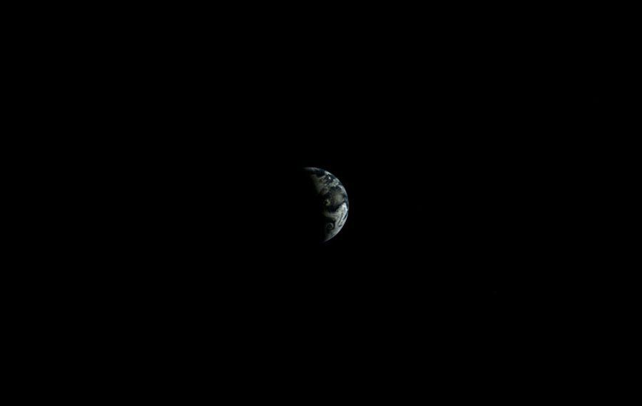 Снимок Земли с китайской станции Change 3 с Луны