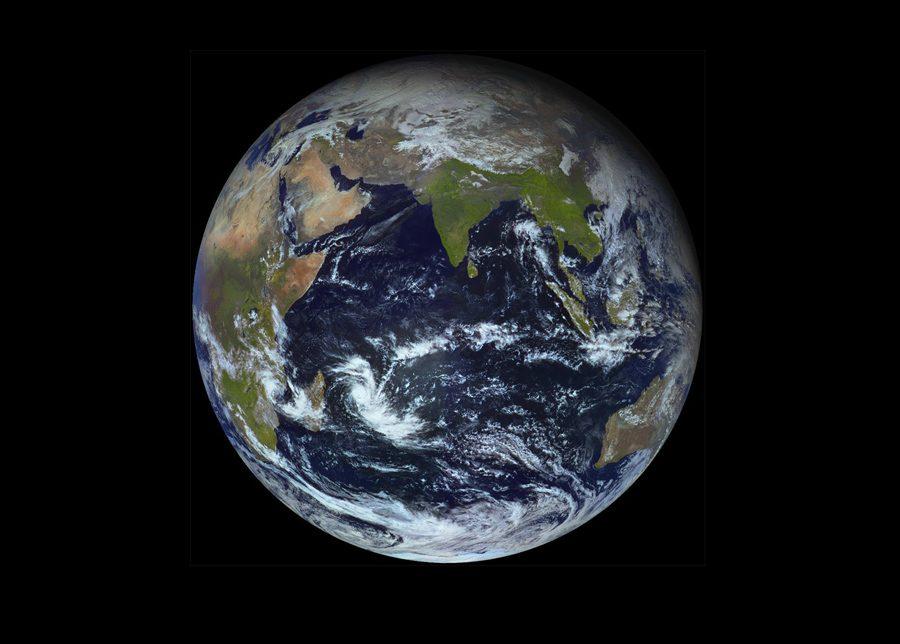 Земля с геостационарной орбиты