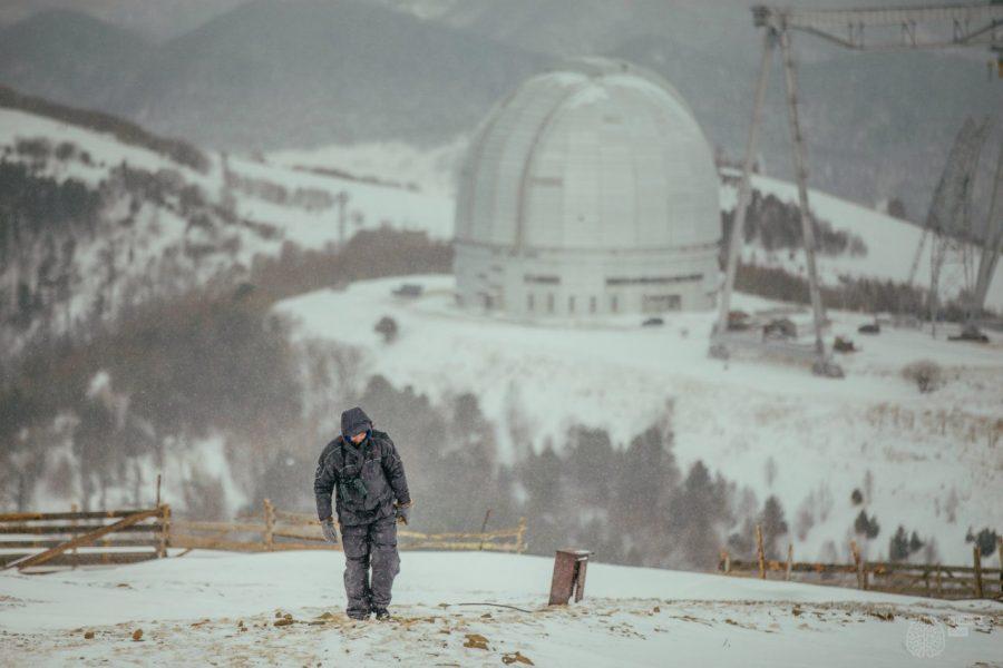 Виталий Егоров у телескопа БТА