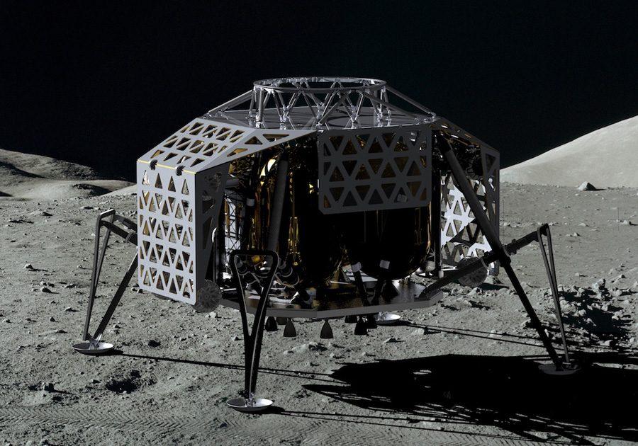спускаемый на Луну аппарат ALINA команды участников Google Lunar XPrise