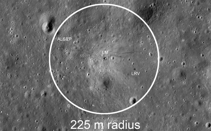территория для спуска лунохода Audi Lunar Quattro в районе Apollo 17