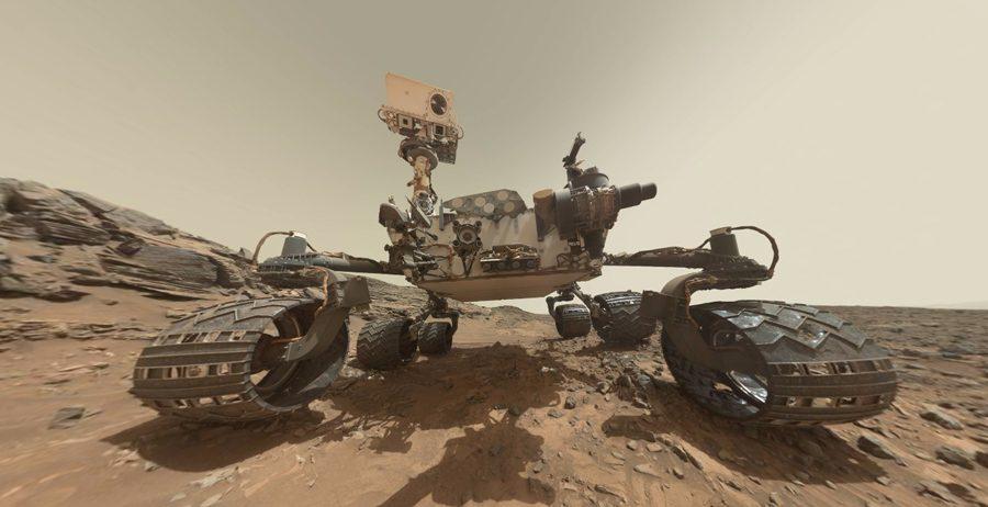 сэлфи марсохода на Марсе в каньоне Marias Pass