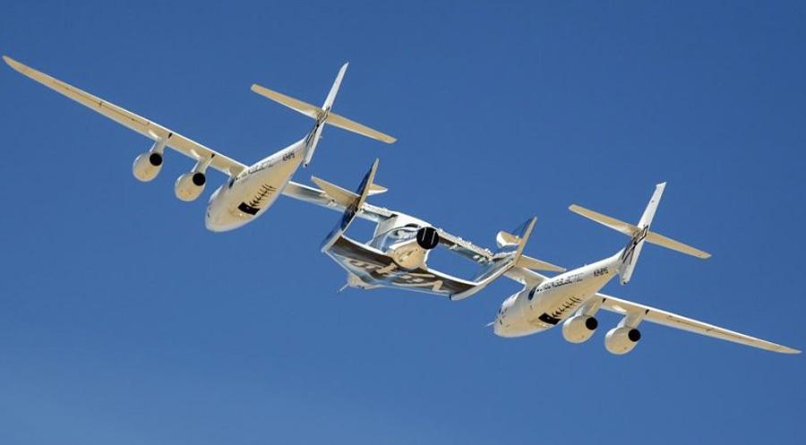 космический суборбитальный корабль компании Virgin Galactic и самолет-носитель