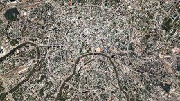 спутниковый снимок Москвы от компании Planet