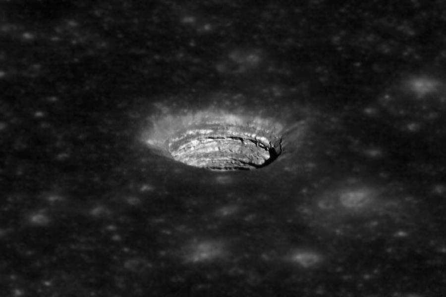пещера на Луне в Море Спокойствия