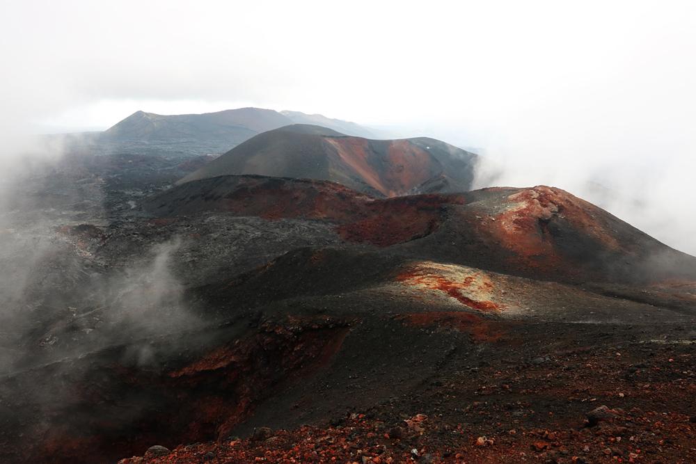 спуск с вулкана Плоский Толбачик
