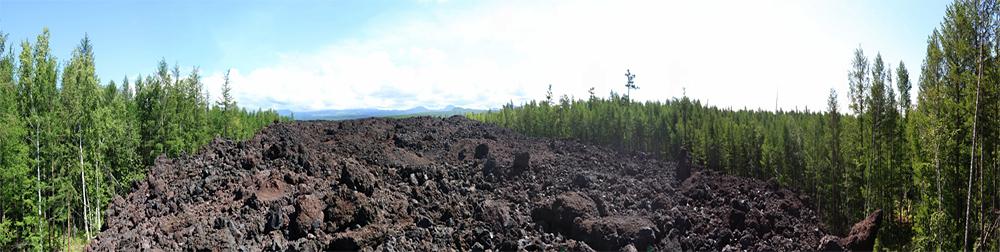 лавовый поток извержения Толбачика 2013 года