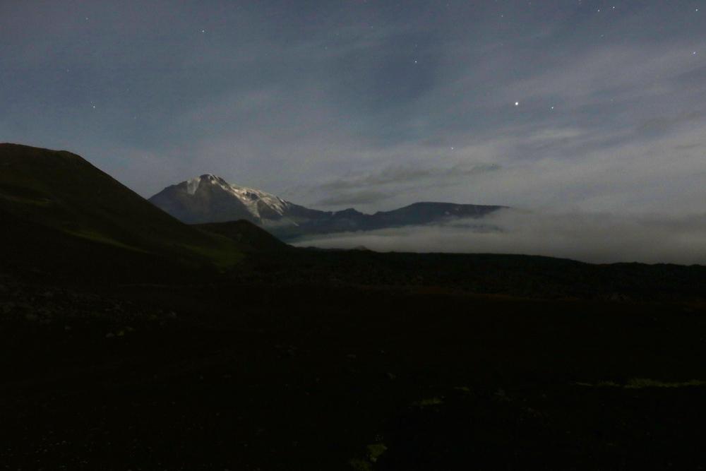 ночной пейзаж, Камчатка