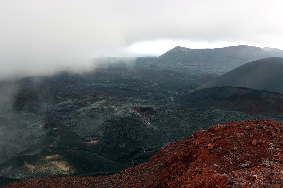 вид с вулкана Плоский Толбачик
