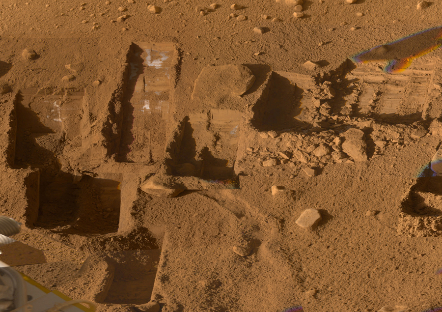 аппарат Phoenix нашел замерзшую воду на Марсе